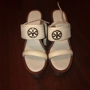 Tory Burch Wedges in White